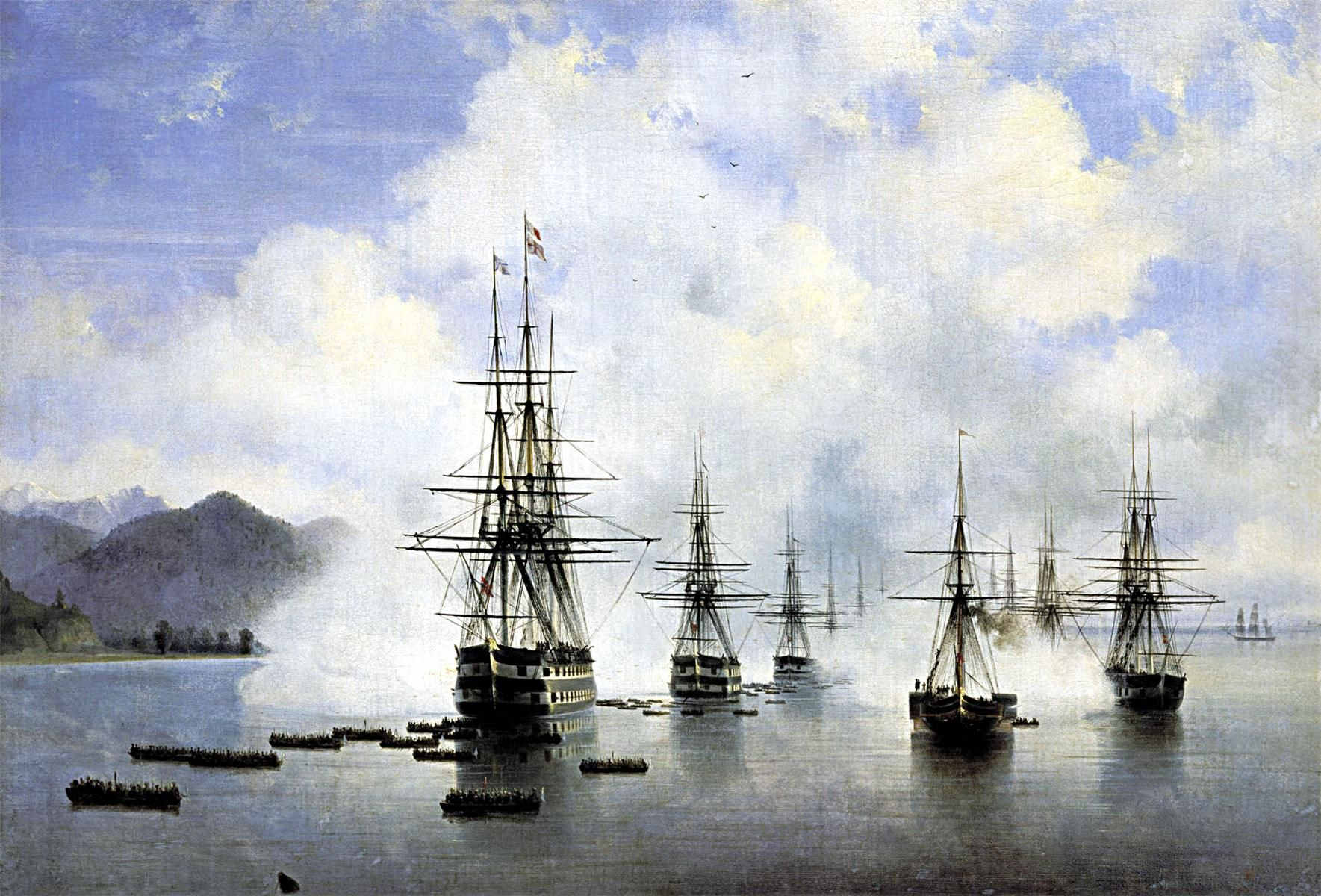 The Landing at Subashi Artist: Ivan Aivazovsky Completion Date: 1839