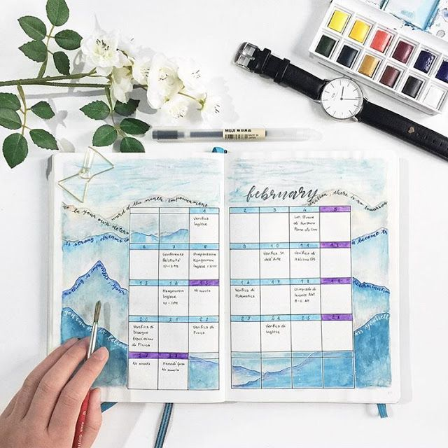 15 Super Pretty Monthlies Inspiration For Bullet Journals And