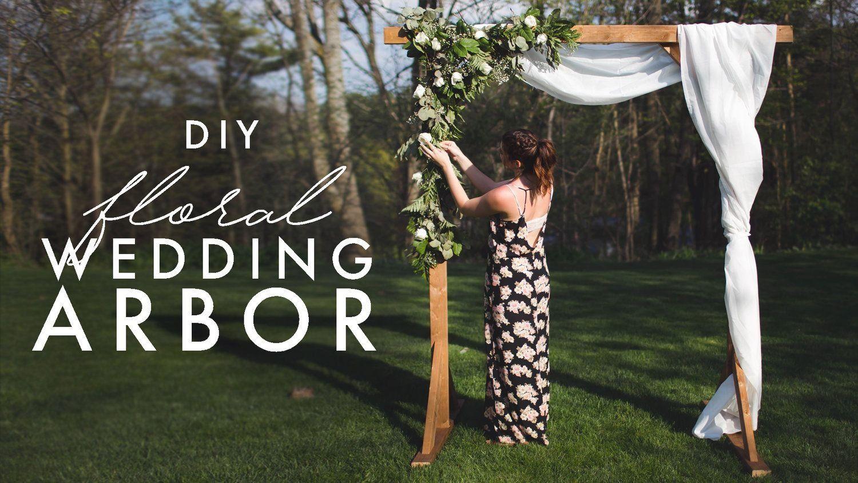 Diy wood wedding arbor the sorry girls modern design