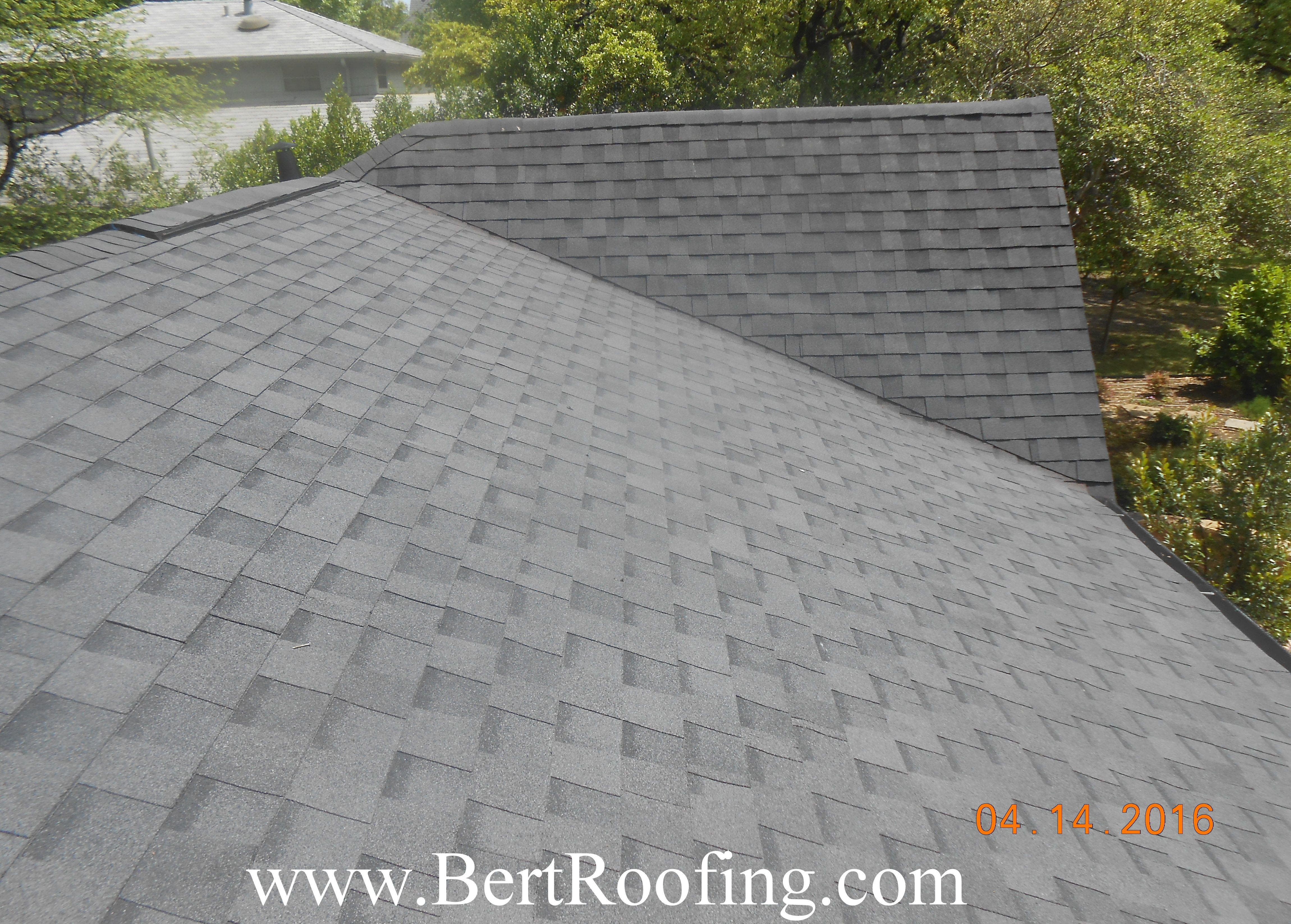 Certainteed Landmark Composition Shingle Color Moire Black Installed By Bert Roofing Inc Of Dallas In Wylie On Ap Roofing Composition Shingles Exterior Paint