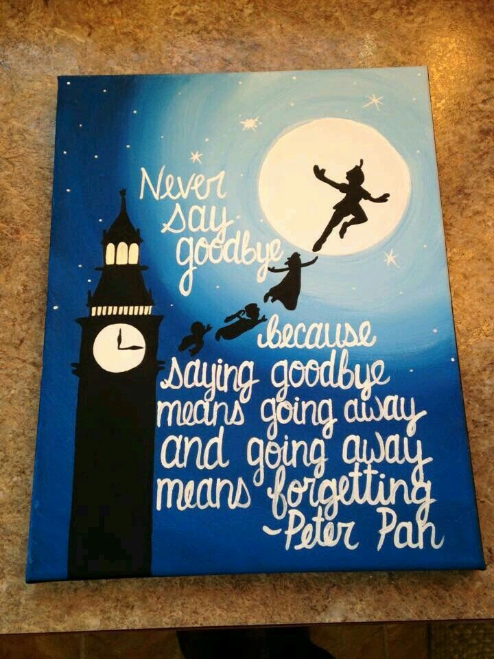 peter pan quotes …  disney leinwandkunst selbstgemachte