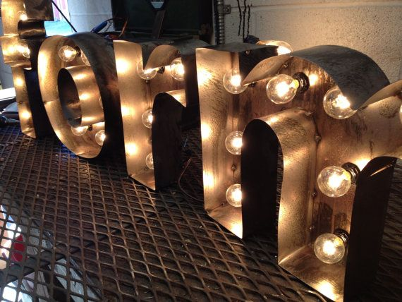 Marquee Letters Verlichting : Marquee letter light fixture lowercase d by westvintagetradingco