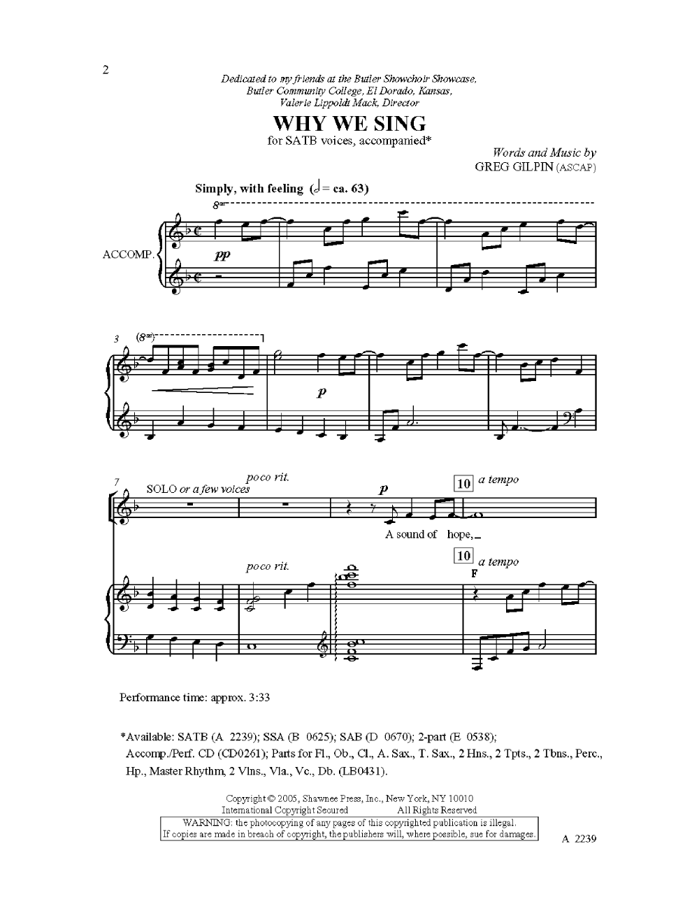 Why we sing satb by greg gilpin jw pepper sheet music this why we sing satb by greg gilpin jw pepper sheet music this has hexwebz Image collections