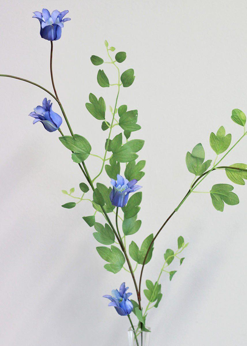 Silk Clematis Flower Vine In Blue 39 Tall Butterfly Pinterest