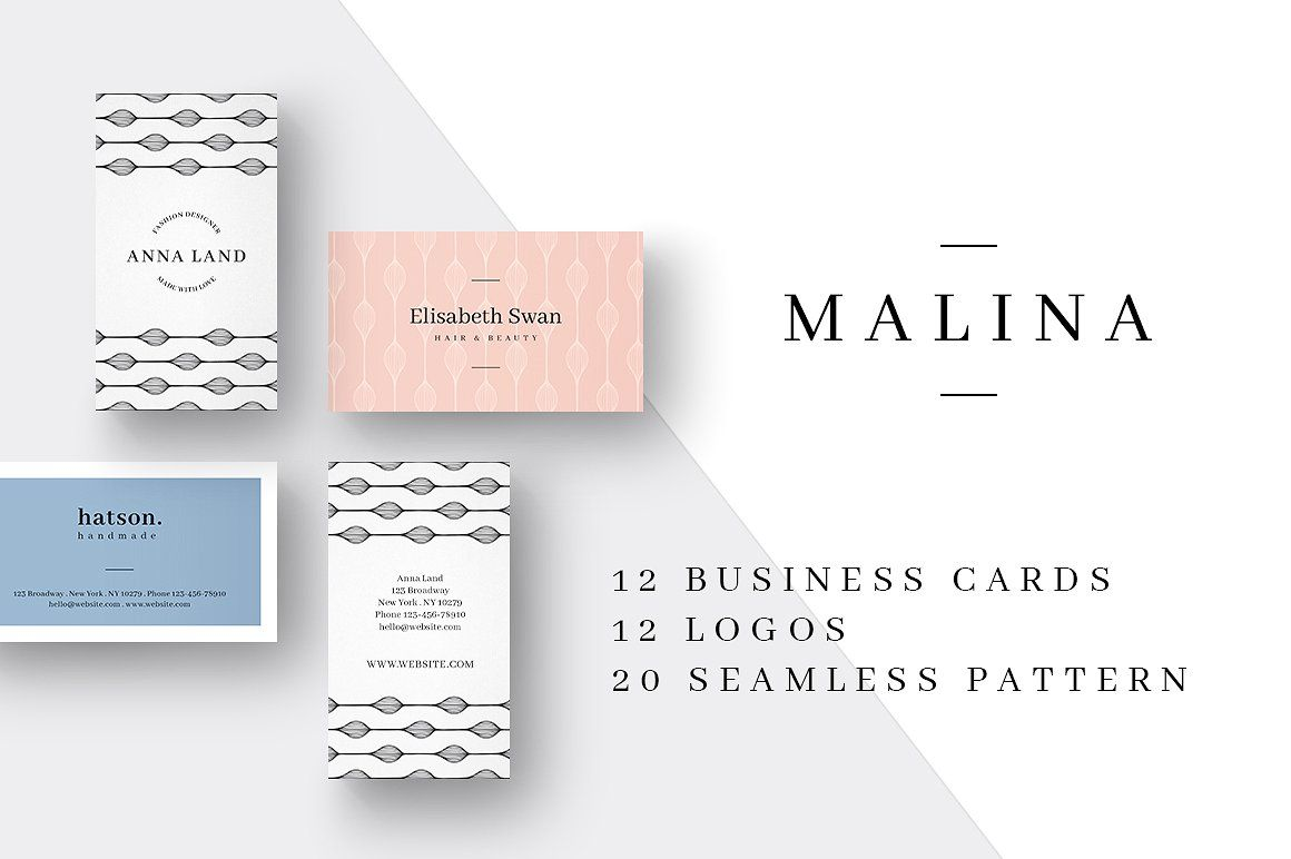 MALINA is a modern and clean corporate design series – here with 12 ...