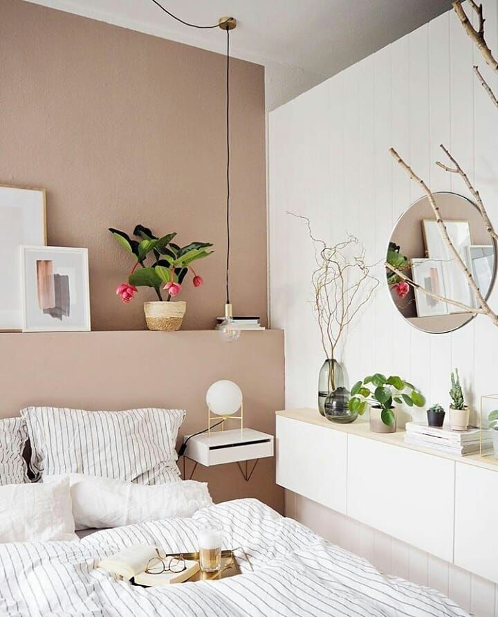 Soft pink and white bedroom #minimalbedroom