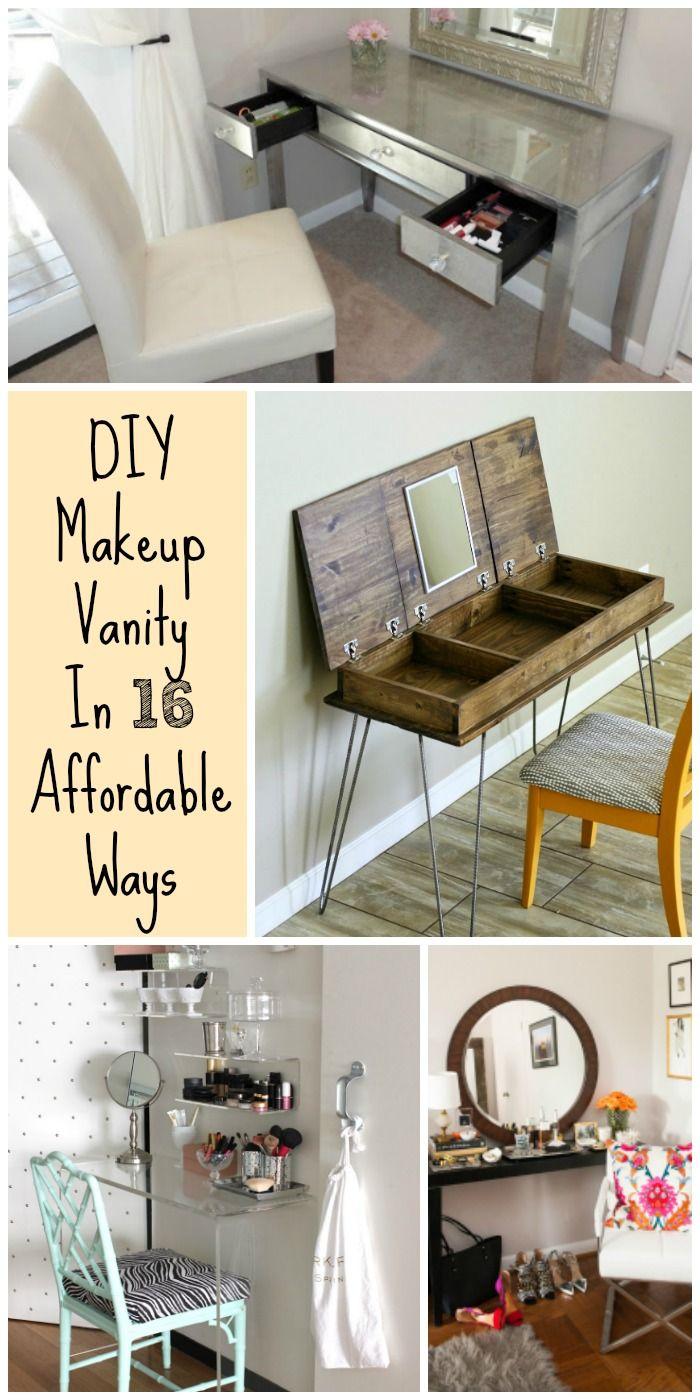 DIY Your Dream Makeup Vanity In 16 Affordable Ways via @ritely
