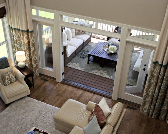 Traditional Family Room Two Story Design Pictures Remodel Decor And Ideas French Doors