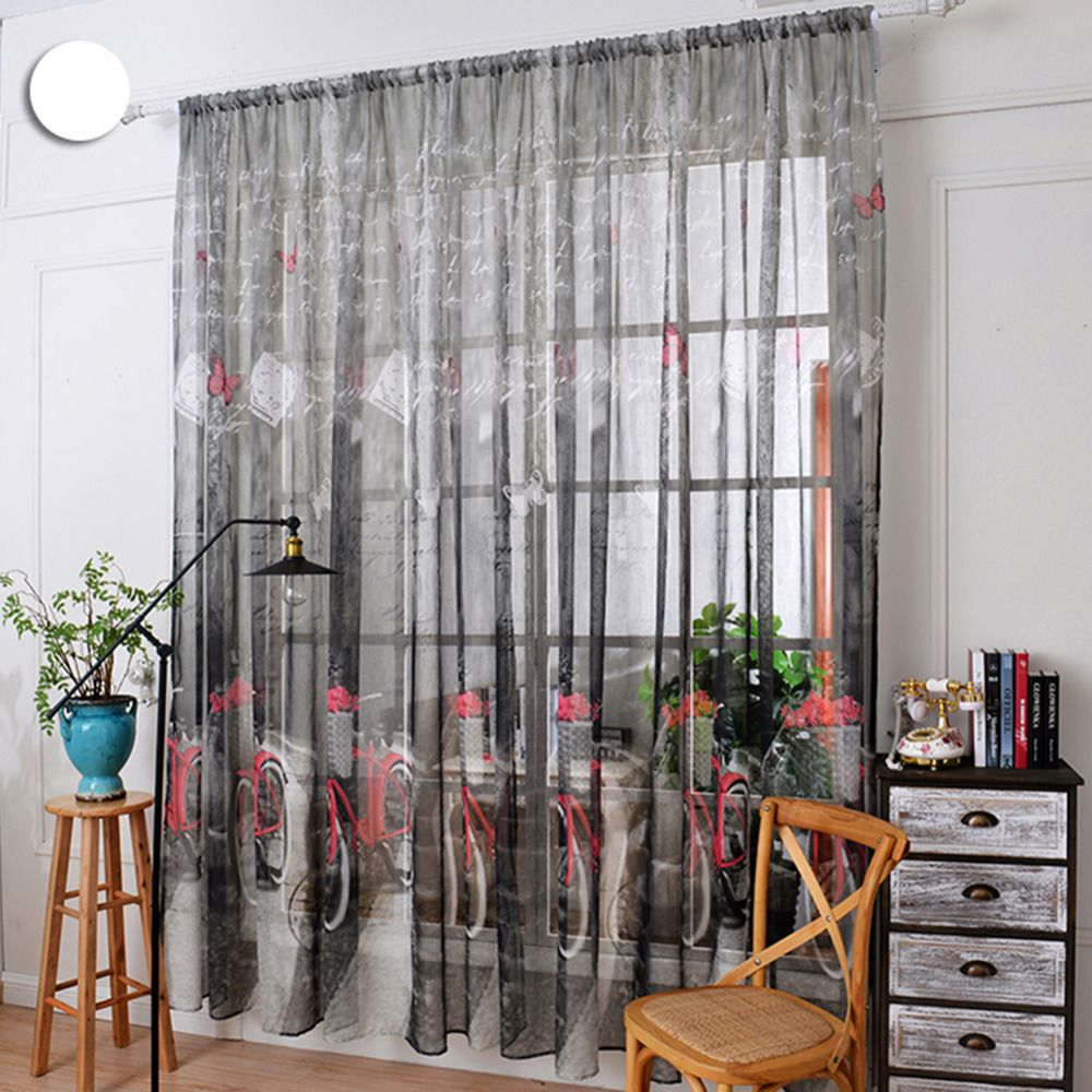 3 window bedroom   colors  pcs  cm window curtains sheer voile tulle for