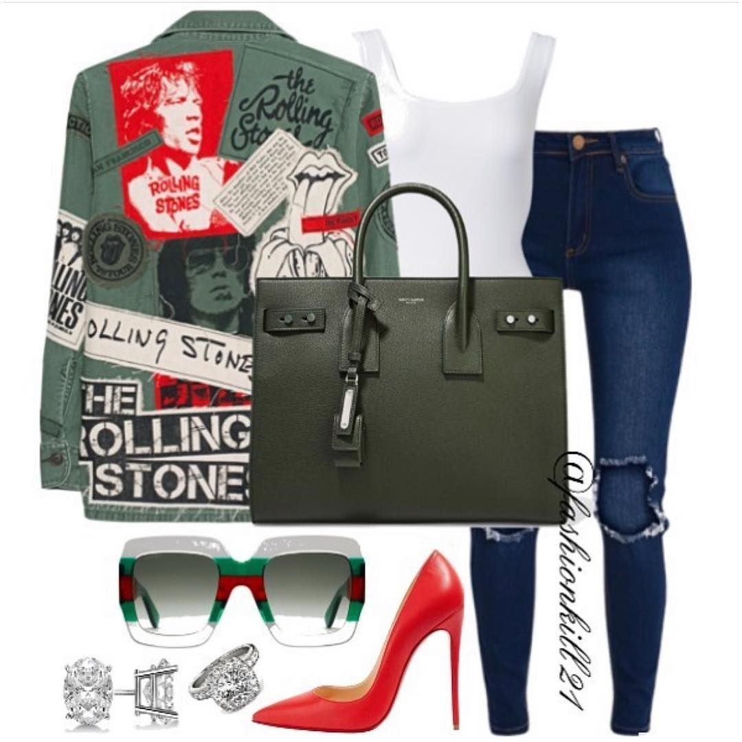 Fk21 On Instagram She S A Rolling Stone Throwbacktuesday Details Jacket Jades24 Tank Rickowens Jeans Prettylittlesthings Avec Images Idee Tenue Mode Tendance Tenue