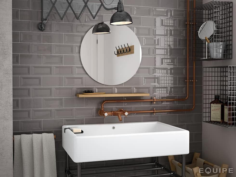 Industriale Badezimmer Bilder von Equipe Ceramicas Metro tiles - porta möbel badezimmer