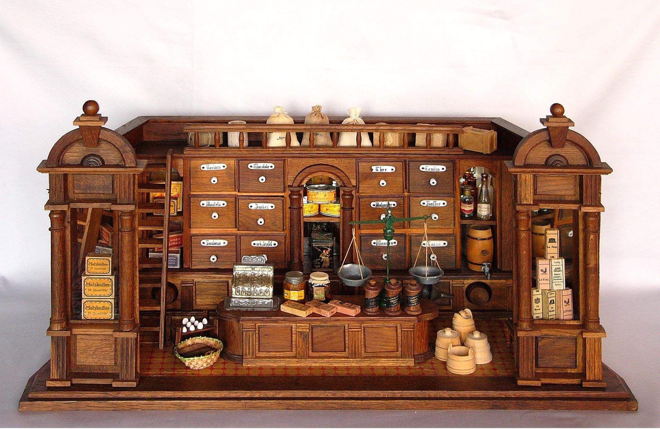 Grunderzeit Kaufladen Herrmann August 1904 Dollhouses Minitures