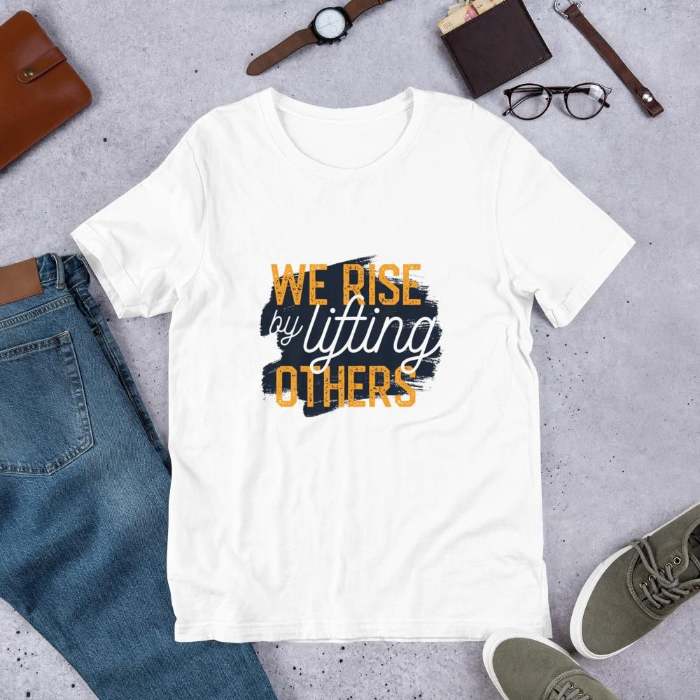 Lifting Others - Short-Sleeve Unisex T-Shirt - White / L