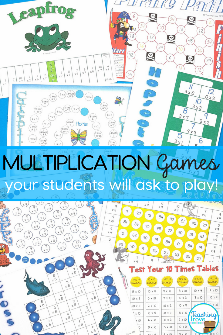 Multiplication Games - 2 to 12 x multiplication facts ...