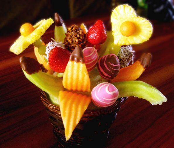 C mo hacer arreglos navide os con frutas visitemos - Como hacer centros navidenos ...