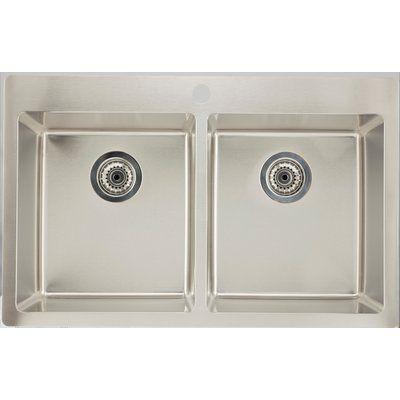 Royal Purple Bath Kitchen 32 X 20 Double Basin Drop In Kitchen