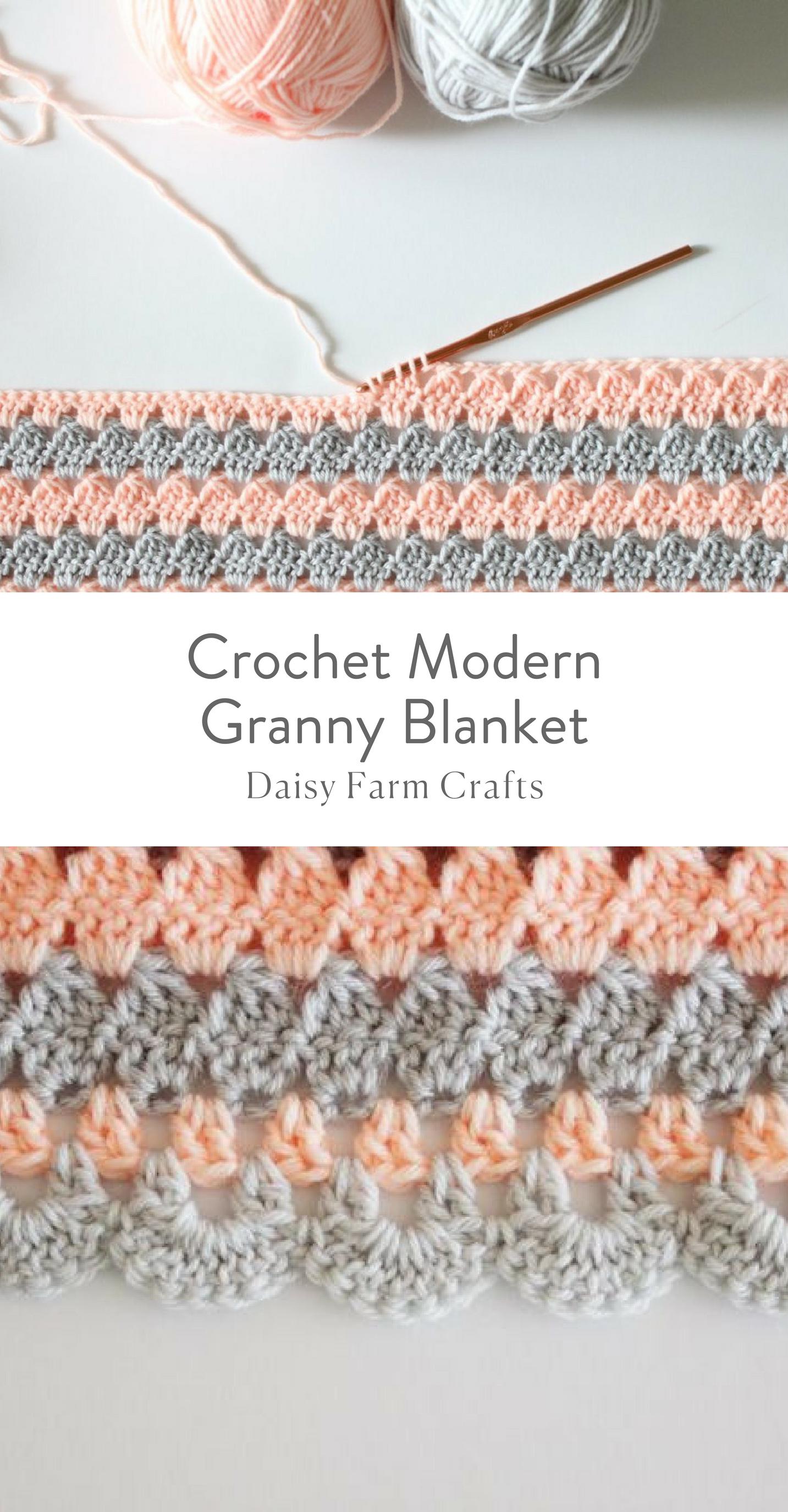 Free Pattern - Crochet Modern Granny Blanket #crochetpattern ...
