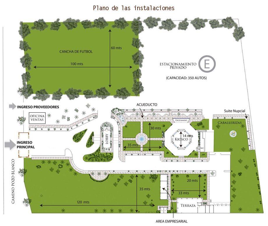 Ubicacion hacienda la siembra jardines para bodas for Planos de jardines