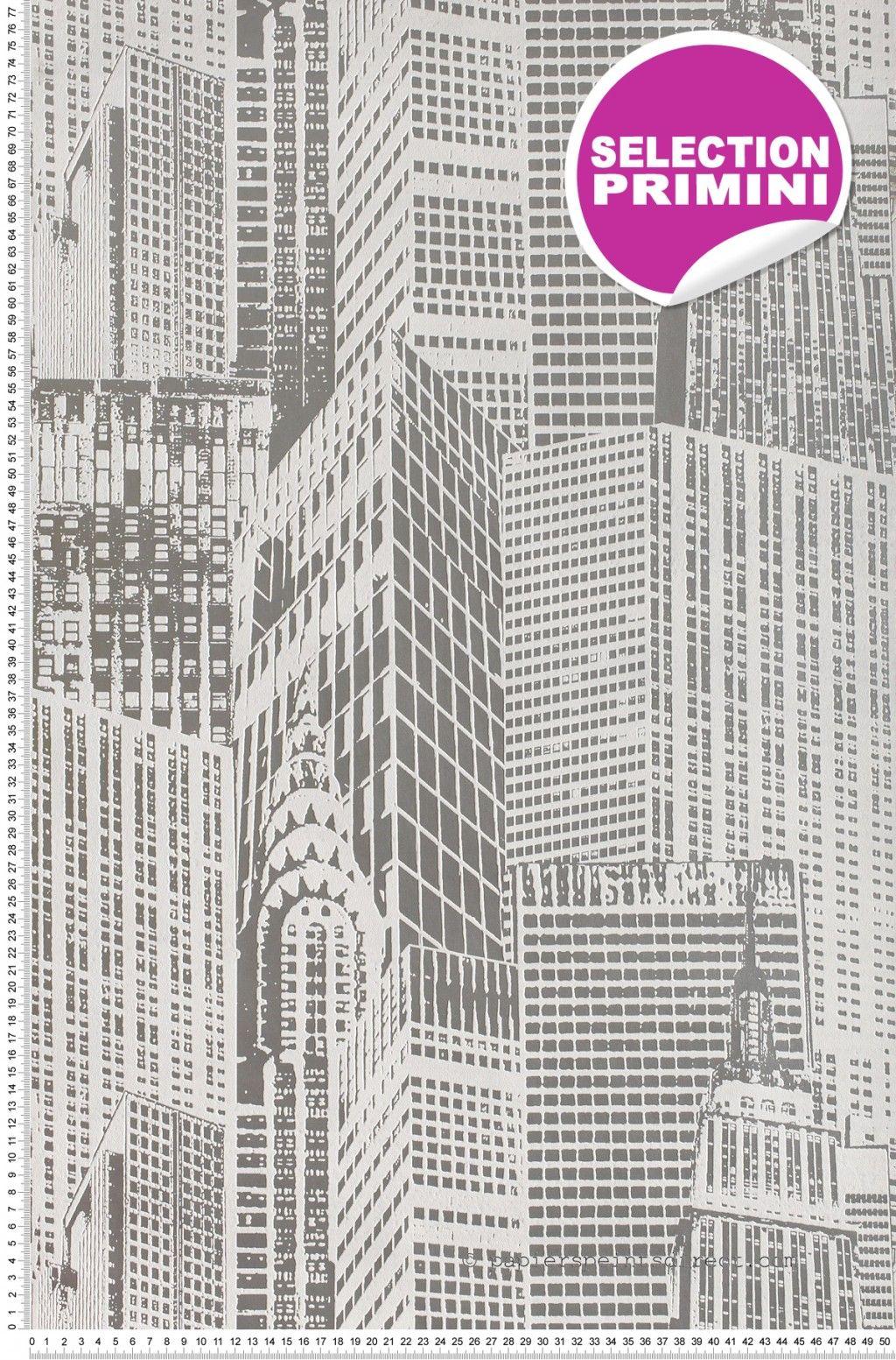 Buildings New York Blanc - papier peint AS Création   York, Papier ...