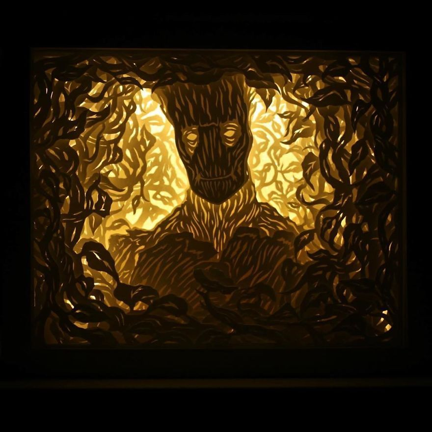 I Capture Dreams Using Paper And Light Papercutting, Shadow box - innovative feuerfeste spanplatten