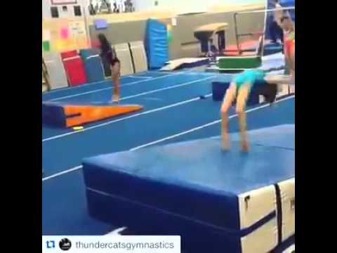 Thundercats Gymnasts Show Off Their Standing Back Handsprings Down Different Size Mancino Incline Mats