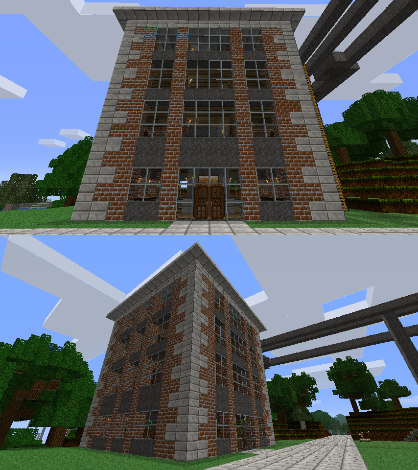 Minecraft Apartment: New Apartment Building Outside By CrazyRonn On DeviantArt