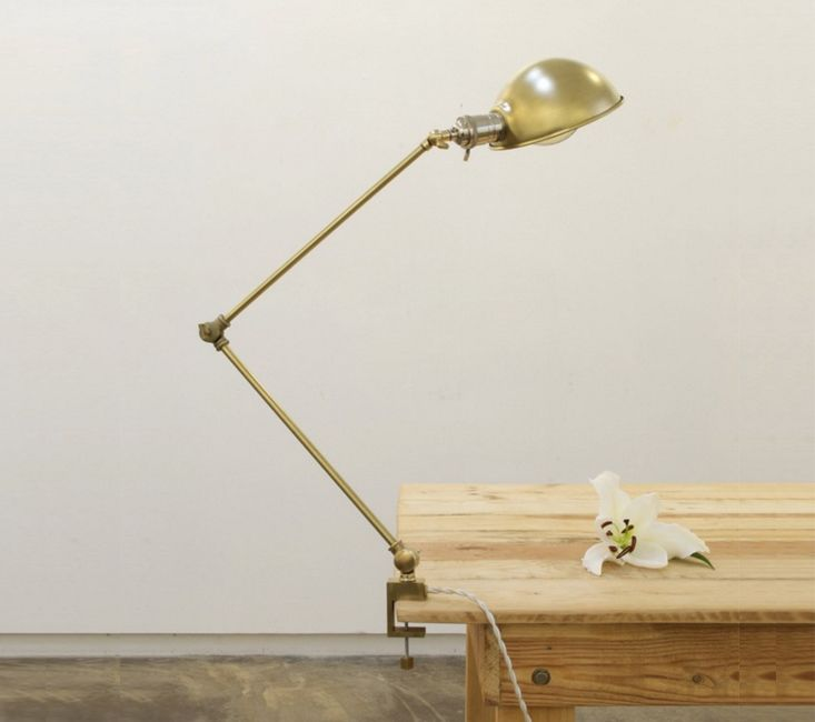 Experimental Brass Lighting From Hito Home Remodelista Lamp Brass Lighting Clamp Lamp