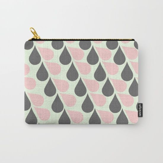 Grey and Pink Tears Carry-All Pouch
