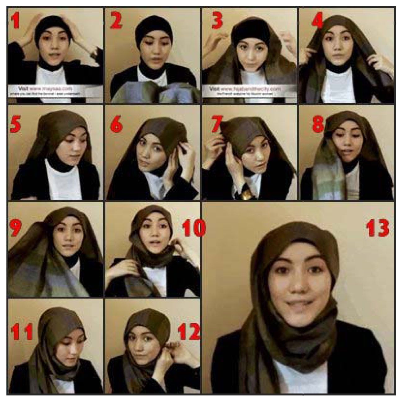 Tutorial Hijab Modern 50 Wish Do It Pinterest Tutorial Hijab