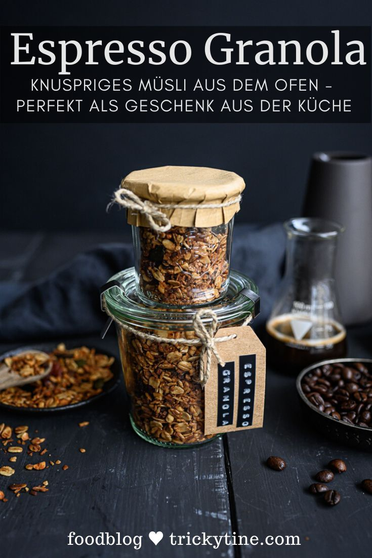 Recipe for espresso granola – crispy muesli from the oven – trickytine
