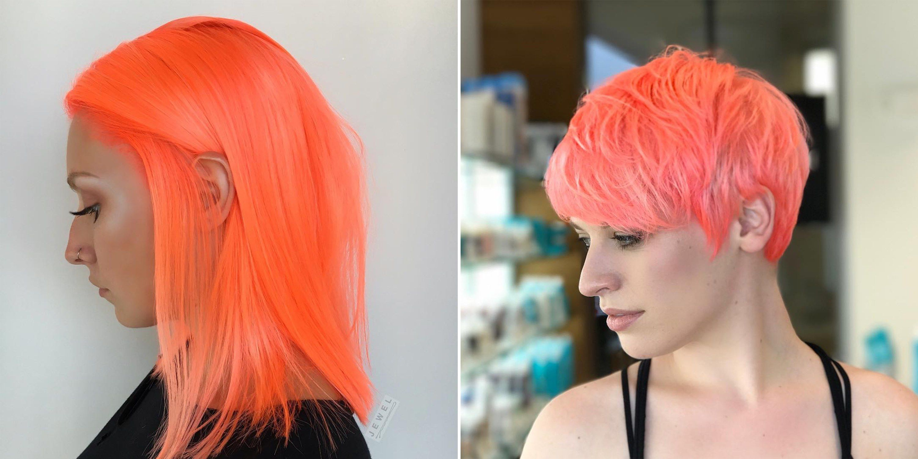 Neon Peach Is About To Be The Summer S Biggest Hair Color Trend