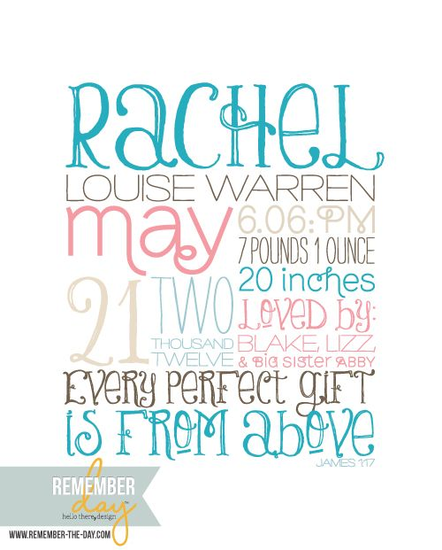 Would love to add this to the wall (personalized, of course!) when baby Mims arrives.