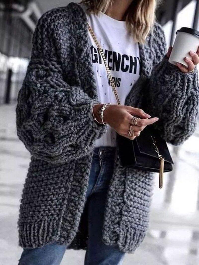 Long cardigan Black cardiganWomen outerwear Black drape jacket Cardigan sweater Black jacket Long sleeve sweater Knitwear LANA FALL