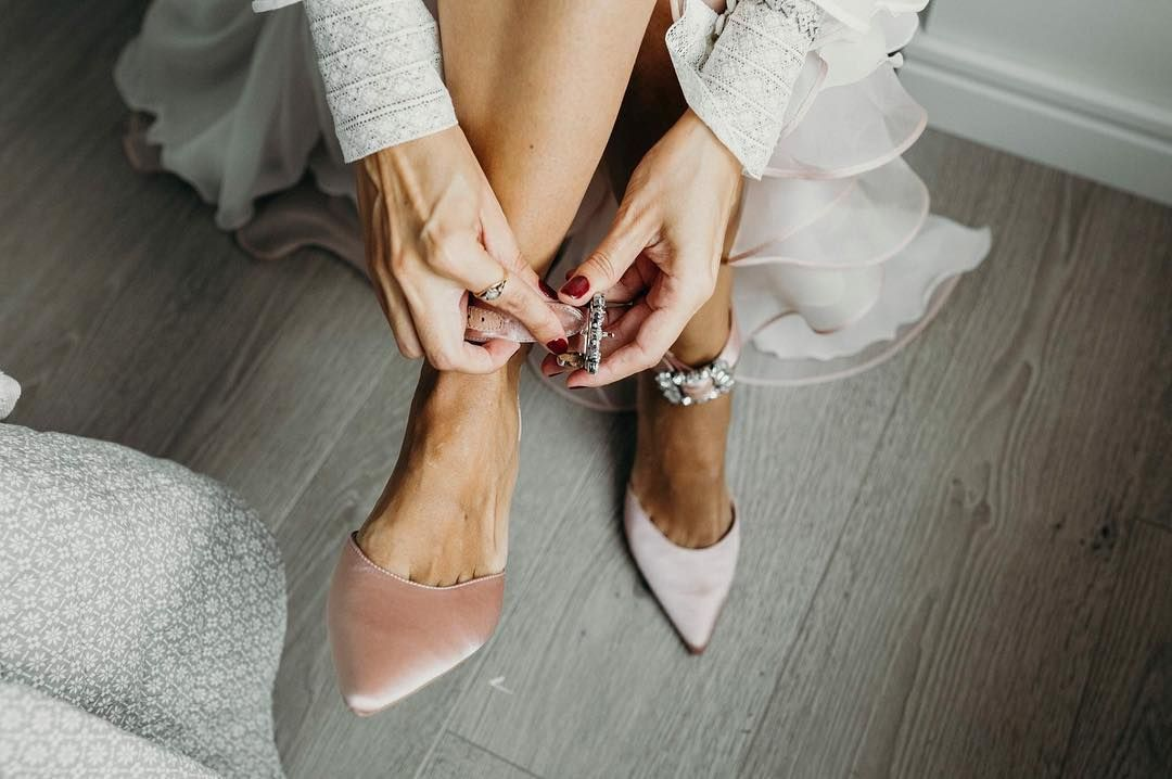zapatos tacon terciopelo novia