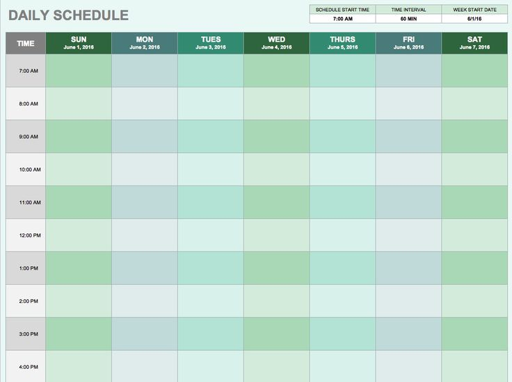Daily Schedule Template If YouRe A User Experience Professional