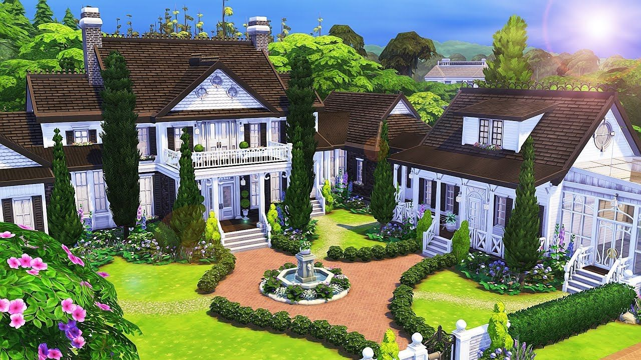 BIG TRADITIONAL FAMILY HOUSE 💕 1 2 The Sims 4