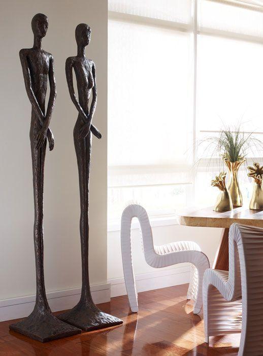 Love These Sculptures After Raymond Waites Skinny Male Sculpture Skinny Female Sculpture Sculpture Sculptures Unusual Art