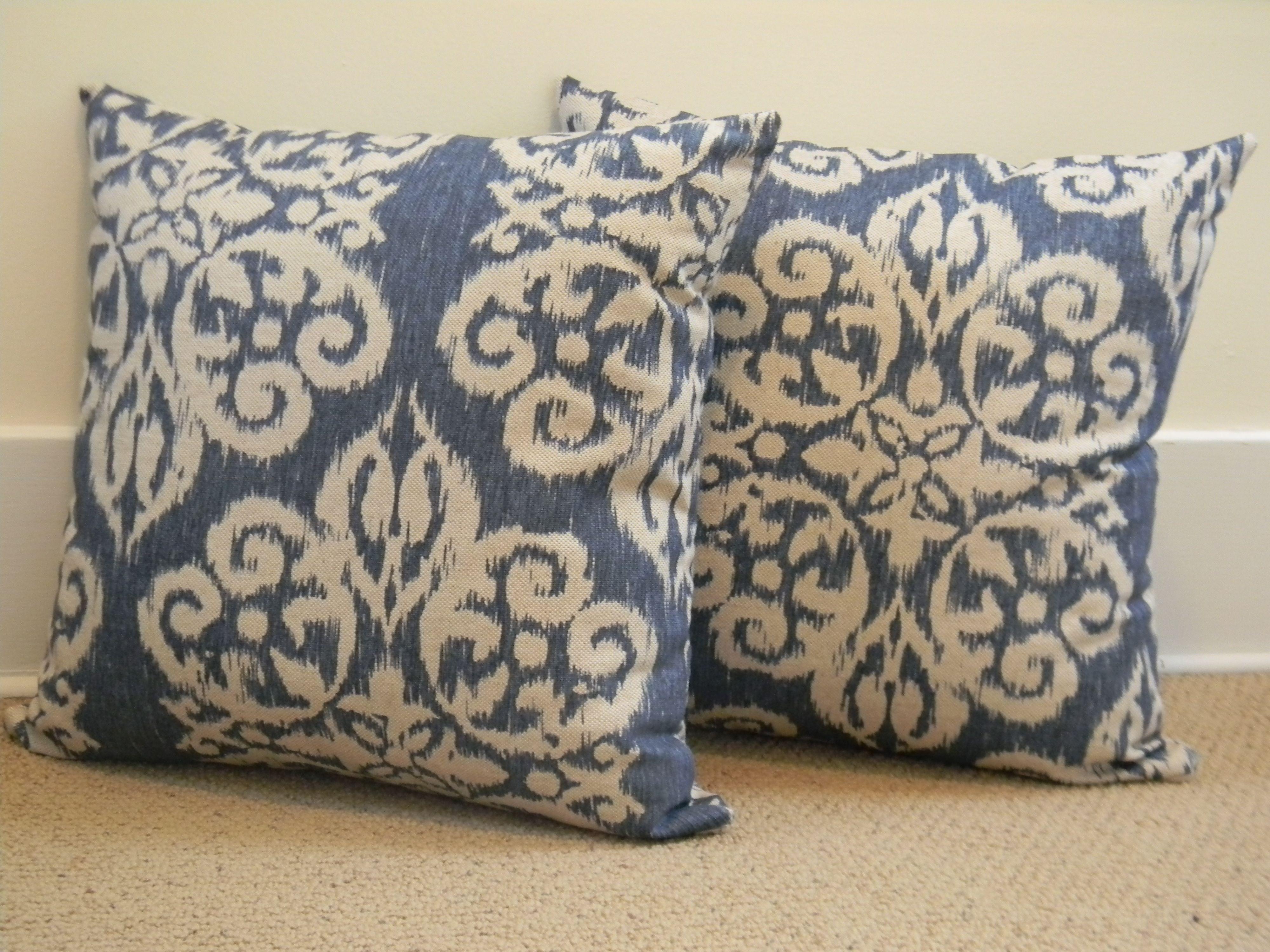 Handmade Bella Ikat Indigo Blue Pillow Covers  http://www.etsy.com/shop/PopOfColorPillows