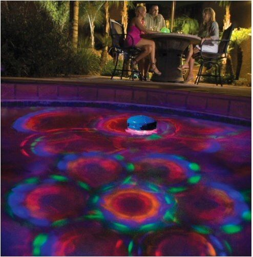 Pool decor ideas floating decorative colorful light - Above ground pool decor ...
