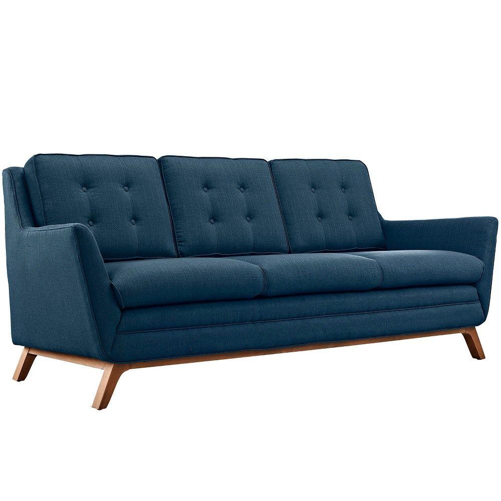 Best Beguile Upholstered Fabric Sofa Azure Modway *D*Lt 400 x 300