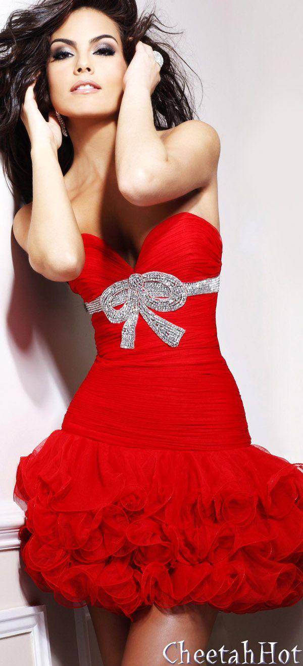 SHERRI HILL - Authentic Designer - Strapless Short Gown   Clothes ...