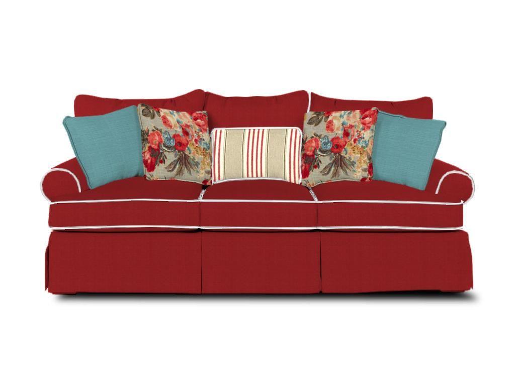 Paula Deen By Craftmaster Living Room Three Cushion Sofa   Brownleeu0027s  Furniture   Lawrenceville, GA