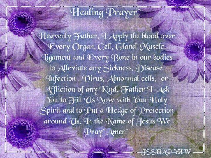 prayer for healing virus
