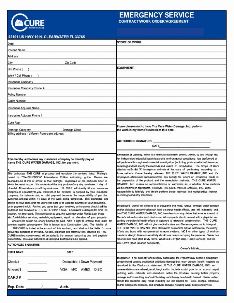 General Contractor Checklist Template Beautiful General