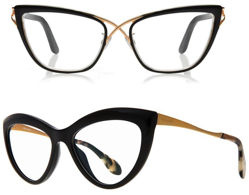 Above - Tom Ford crossover cat-eye optical frame glasses. Below ...