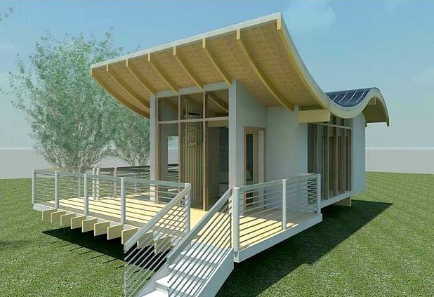 Wavy Solar Integrated Studio House Eco House Design Small House Design Ecological House