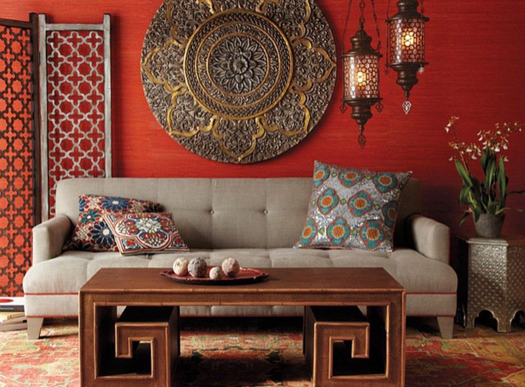 Indian Living Room Interior With
