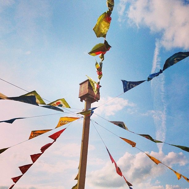 Flags at ScenesConnected Maastricht 2013 #Mtricht #univerCity #maastricht  #sky #flags #color #blue #upintheair #june2013 #summer2013 #festival