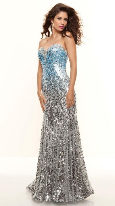 a6678bbe3e76 Paparazzi by Mori Lee 93051 Ombre Sequin Fitted Formal Dress at  frenchnovelty.com