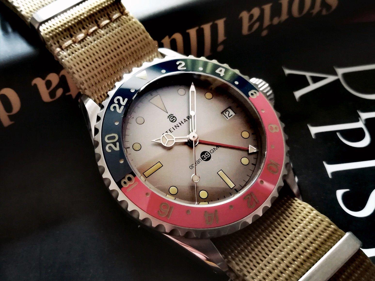 Steinhart Ocean One 39 Vintage Gmt Special Olko Edition Bracelet Watch Steinhart Ocean One Watches